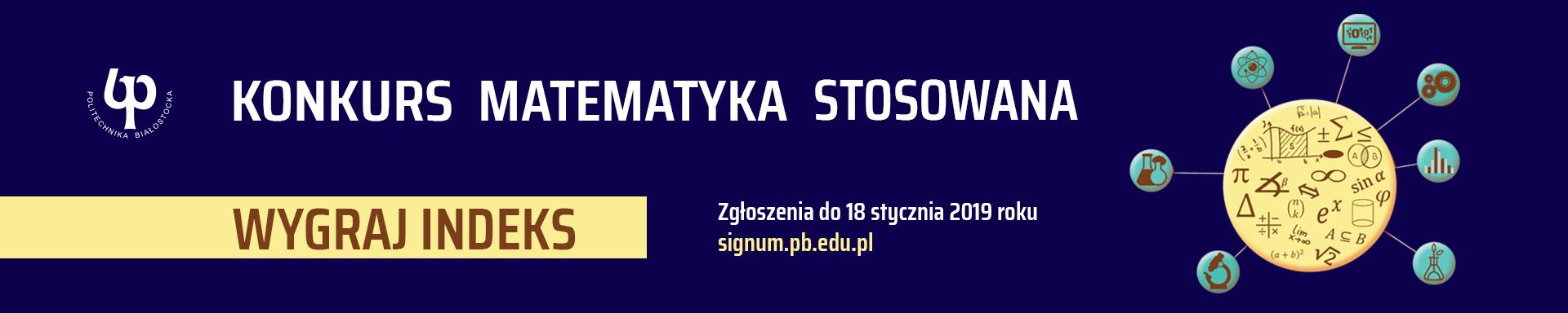 SIGNUM - Konkurs ,,Matematyka stosowana' 2018/19